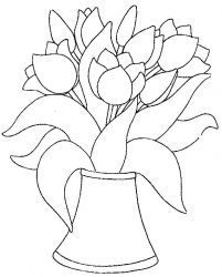 plansa de colorat flori lalele de colorat p27