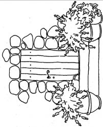 plansa de colorat flori lavanda de colorat p02
