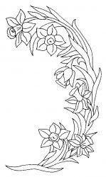 plansa de colorat flori narcise de colorat p03