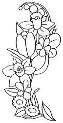 plansa de colorat flori narcise de colorat p04
