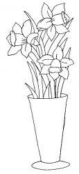 plansa de colorat flori narcise de colorat p09