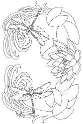 plansa de colorat flori nuferi de colorat p01