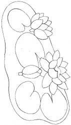 plansa de colorat flori nuferi de colorat p07