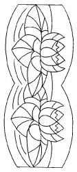 plansa de colorat flori nuferi de colorat p08