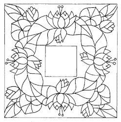 plansa de colorat flori nuferi de colorat p14
