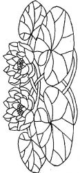 plansa de colorat flori nuferi de colorat p19