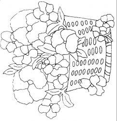 plansa de colorat flori panselute de colorat p01