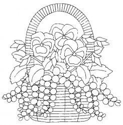 plansa de colorat flori panselute de colorat p06