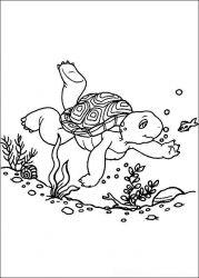 plansa de colorat franklin the turtle de colorat p42