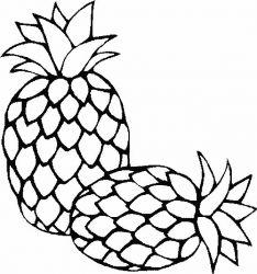 plansa de colorat fructe ananas de colorat p01