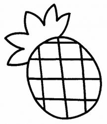 plansa de colorat fructe ananas de colorat p04