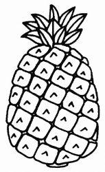 plansa de colorat fructe ananas de colorat p05