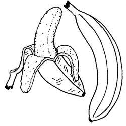 plansa de colorat fructe banane de colorat p09