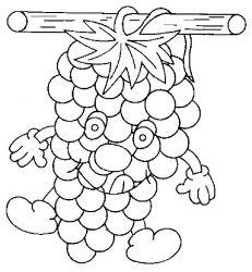 plansa de colorat fructe struguri de colorat p11