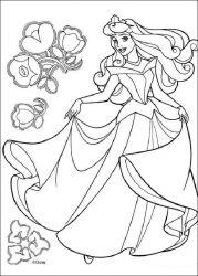 plansa de colorat frumoasa din padurea adormita de colorat p15