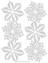 plansa de colorat fulgi de nea de colorat p10