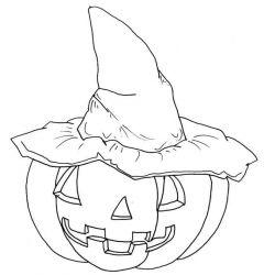 plansa de colorat hallowen de colorat p01