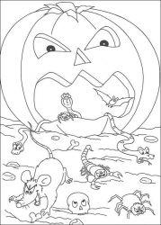 plansa de colorat hallowen de colorat p100