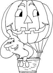 plansa de colorat hallowen de colorat p101