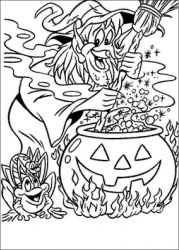 plansa de colorat hallowen de colorat p102