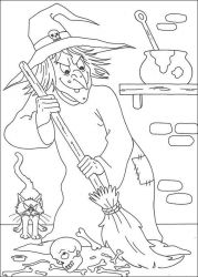 plansa de colorat hallowen de colorat p104