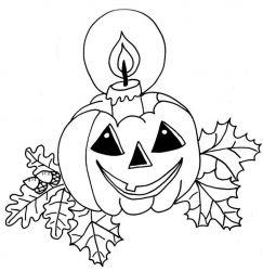 plansa de colorat hallowen de colorat p11