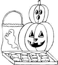 plansa de colorat hallowen de colorat p12