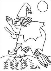 plansa de colorat hallowen de colorat p13
