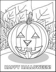 plansa de colorat hallowen de colorat p14