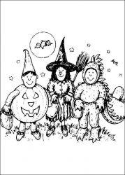 plansa de colorat hallowen de colorat p17