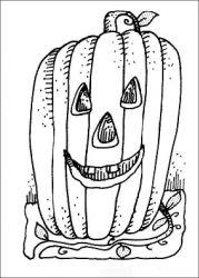 plansa de colorat hallowen de colorat p18
