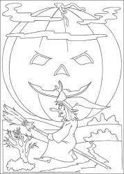 plansa de colorat hallowen de colorat p19