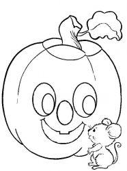 plansa de colorat hallowen de colorat p25