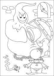 plansa de colorat hallowen de colorat p27