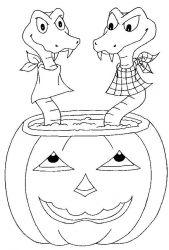 plansa de colorat hallowen de colorat p30