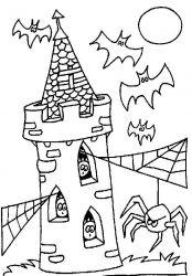 plansa de colorat hallowen de colorat p52