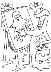plansa de colorat hallowen de colorat p56