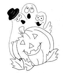 plansa de colorat hallowen de colorat p57