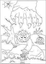 plansa de colorat hallowen de colorat p62