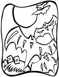 plansa de colorat hallowen de colorat p63