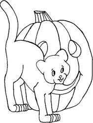 plansa de colorat hallowen de colorat p71