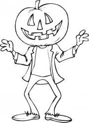 plansa de colorat hallowen de colorat p78