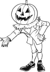 plansa de colorat hallowen de colorat p79