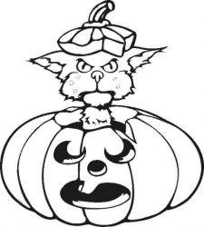 plansa de colorat hallowen de colorat p80