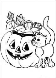 plansa de colorat hallowen de colorat p81