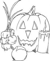 plansa de colorat hallowen de colorat p83