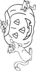 plansa de colorat hallowen de colorat p85