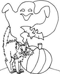 plansa de colorat hallowen de colorat p86