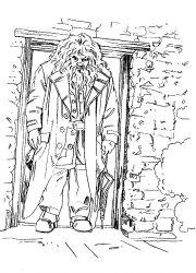 plansa de colorat harry potter prizonierul din azkaban de colorat p11