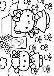 plansa de colorat hello kitty de colorat p01